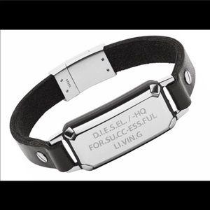 Diesel men's leather bracelet